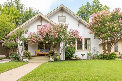 Fort Worth Single Family Home For Sale: 2212 Hurley Avenue