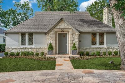 Highland Park Single Family Home For Sale: 4525 Mockingbird Lane