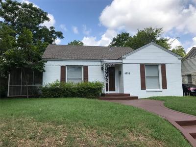 Dallas Single Family Home For Sale: 4235 Somerville Avenue