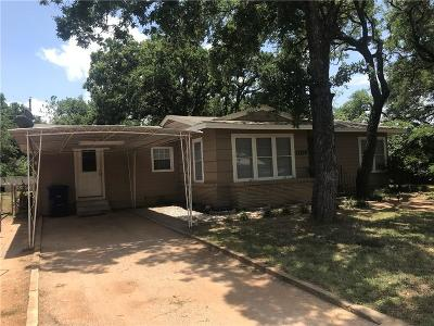 Brownwood Single Family Home Active Option Contract: 1106 Oakland Drive