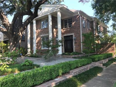 Highland Park TX Single Family Home For Sale: $1,495,000