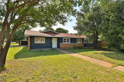 Abilene Single Family Home Active Option Contract: 2250 Barrow Street