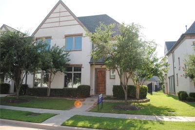 Coppell Townhouse For Sale: 833 Milton Way