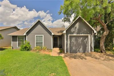 Abilene Single Family Home Active Option Contract: 32 Shady Brook Circle