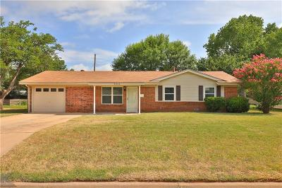 Abilene Single Family Home Active Option Contract: 3948 N 11th Street