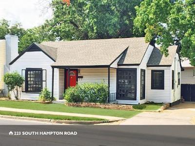 Dallas Single Family Home For Sale: 223 Hampton Road S