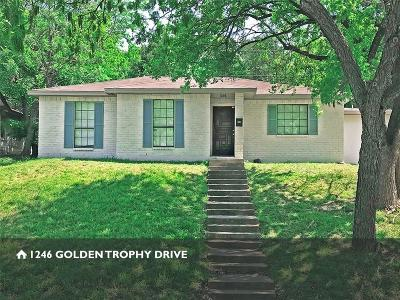 Dallas Single Family Home For Sale: 1246 Golden Trophy Drive