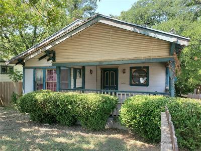 Dallas Single Family Home For Sale: 1519 Whitaker Avenue