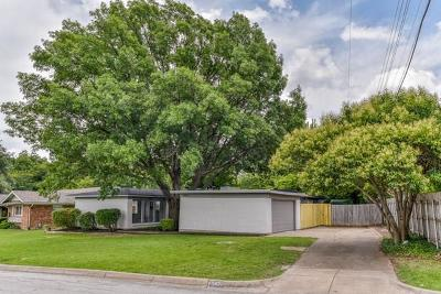 Fort Worth Single Family Home Active Option Contract: 5821 Wedgworth Road