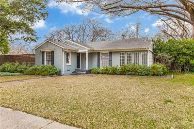 Dallas County Single Family Home For Sale: 5427 Bryn Mawr Drive