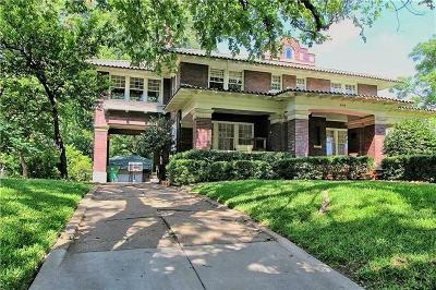 Fort Worth Single Family Home For Sale: 2420 College Avenue