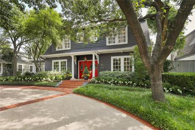 Highland Park Single Family Home For Sale: 3409 Mockingbird Lane
