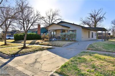 Abilene Single Family Home Active Option Contract: 1358 Amarillo Street