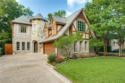 Dallas TX Single Family Home For Sale: $779,900