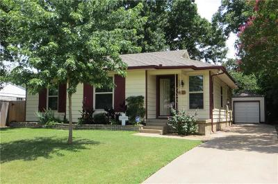 Irving Single Family Home Active Option Contract: 2506 W 5th Street