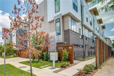 Dallas Townhouse For Sale: 5808 Lindell Avenue #101