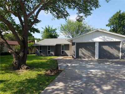 Grand Prairie Single Family Home Active Option Contract: 357 Hawthorne Lane