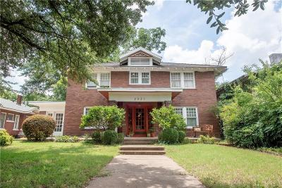 Fort Worth Single Family Home For Sale: 2221 Park Place Avenue