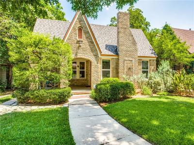 Dallas Single Family Home Active Option Contract: 6214 Reiger Avenue