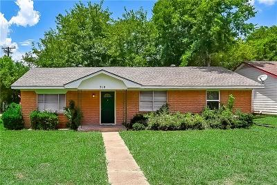 Rockwall Single Family Home For Sale: 316 Lakeside Dr