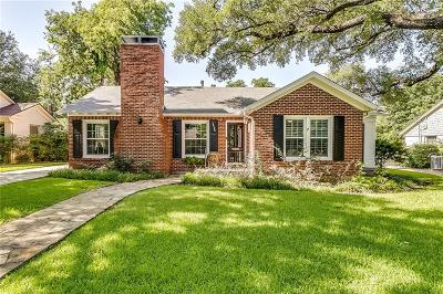 Fort Worth Single Family Home For Sale: 3636 W Biddison Street