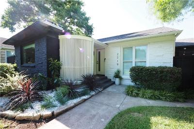 Dallas Single Family Home For Sale: 2219 Barberry Drive