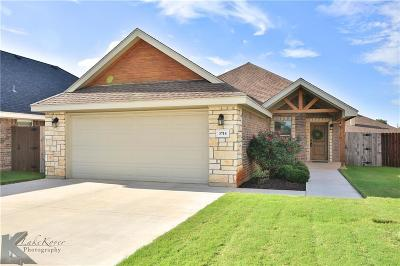 Abilene Single Family Home Active Option Contract: 3714 Bettes Lane
