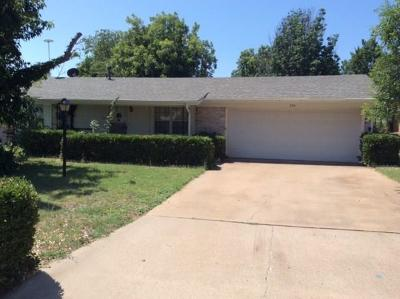 Abilene Single Family Home Active Option Contract: 5341 Harwood Street