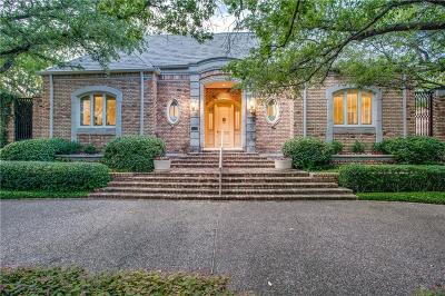 Dallas Single Family Home For Sale: 7711 Caruth Boulevard