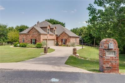Azle Single Family Home For Sale: 101 Deer Crossing Way