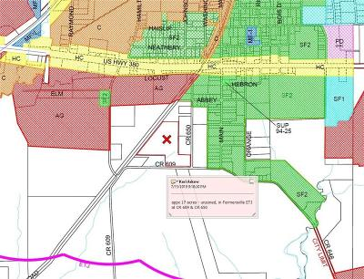 Collin County Residential Lots & Land For Sale: 17 Ac County Road 609