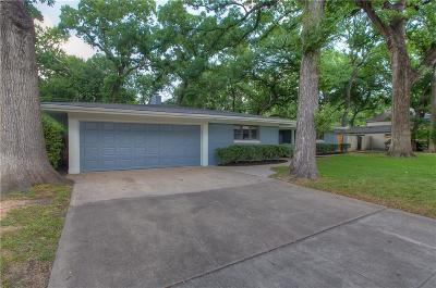 Overton Park Add, Overton Woods Add, Tanglewood Single Family Home For Sale: 3129 Chaparral Lane