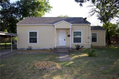 Waxahachie Single Family Home Active Option Contract: 309 Lynn Street