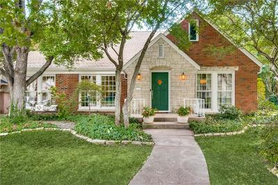 Dallas Single Family Home For Sale: 6116 Kenwood Avenue