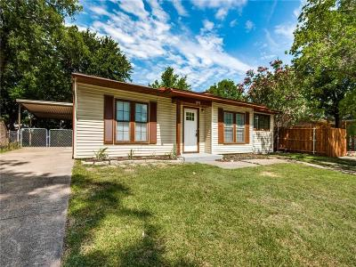 Grand Prairie Single Family Home Active Option Contract: 1050 Indian Hills Drive