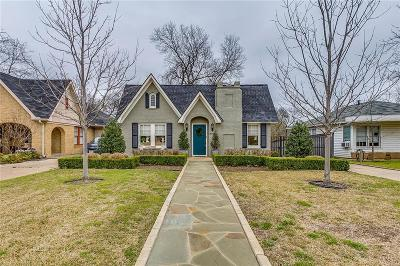 Fort Worth Single Family Home Active Option Contract: 2117 Ashland Avenue