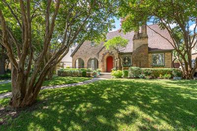 Dallas Single Family Home For Sale: 5442 Mercedes Avenue