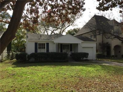 Single Family Home For Sale: 5730 Hanover