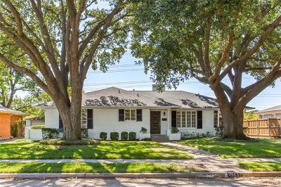 Dallas Single Family Home For Sale: 4563 Ashford Drive