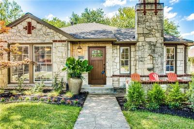 Dallas Single Family Home For Sale: 6823 Hammond Avenue