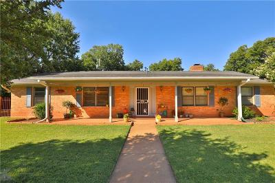 Abilene Single Family Home Active Option Contract: 4115 N 14th Court