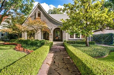 Dallas Single Family Home For Sale: 5146 Monticello Avenue