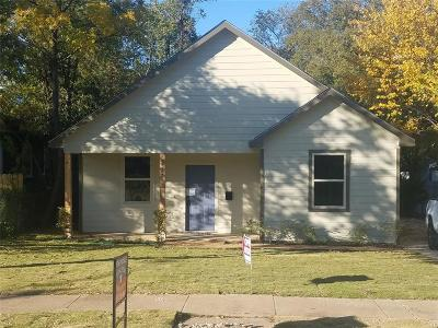 Fort Worth Single Family Home For Sale: 1327 E Jefferson Avenue