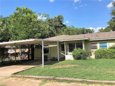 Fort Worth Single Family Home For Sale: 4105 Eastover Avenue