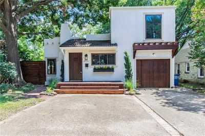 Dallas Single Family Home For Sale: 4722 W Amherst Avenue