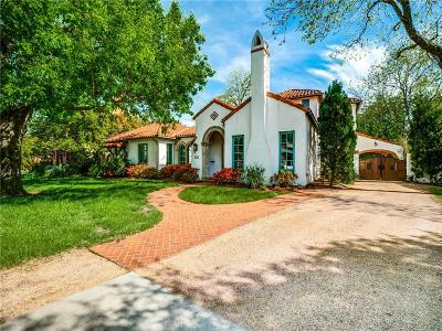 Dallas Single Family Home For Sale: 6466 Meadow Road