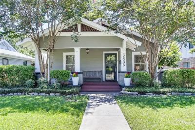 Single Family Home For Sale: 6336 Goliad Avenue