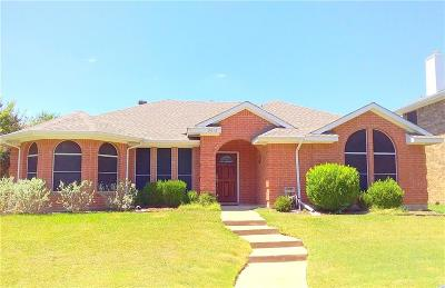 Sachse Single Family Home For Sale: 2513 Chene Drive
