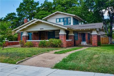 Fort Worth Single Family Home For Sale: 2234 Harrison Avenue