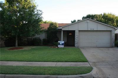 Allen Single Family Home For Sale: 558 Harrison Drive